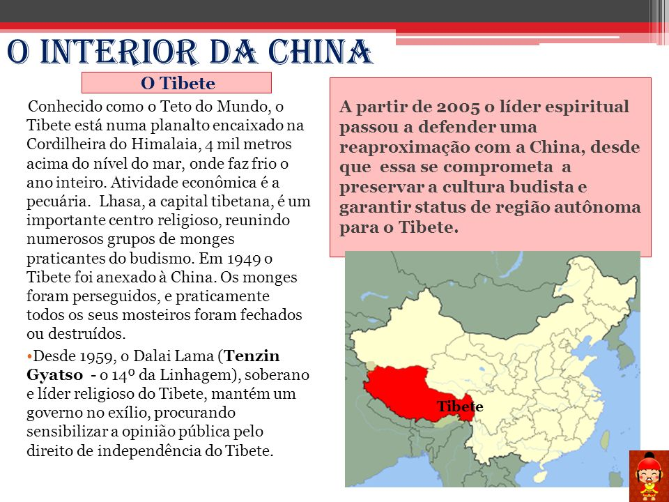 O Interior da China O Tibete