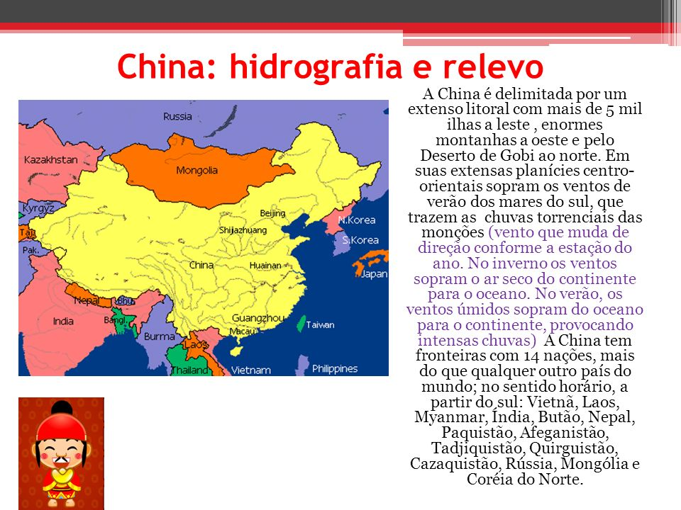 China: hidrografia e relevo