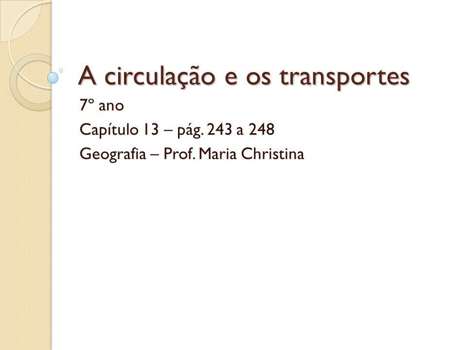 A circulação e os transportes