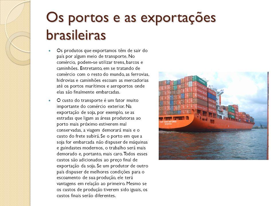 Os portos e as exportações brasileiras