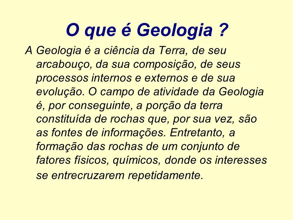 O que é Geologia
