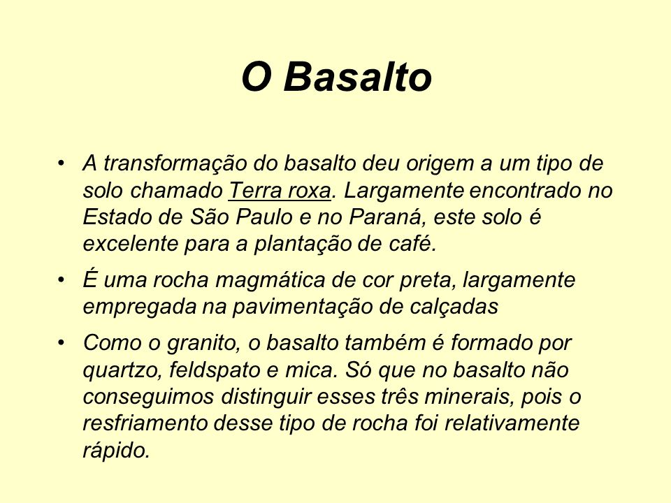 O Basalto