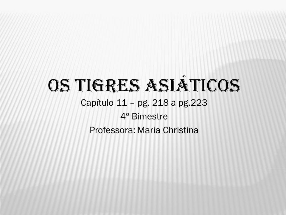 OS TIGRES ASIÁTICOS Capítulo 11 – pg. 218 a pg.223