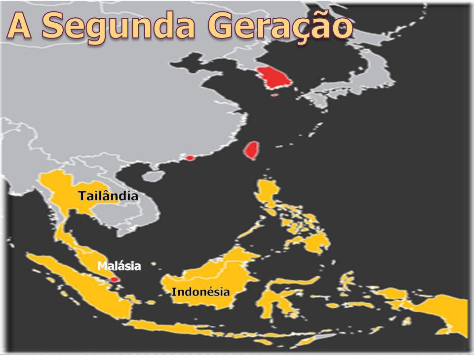 A Segunda Geração Tailândia Malásia Indonésia