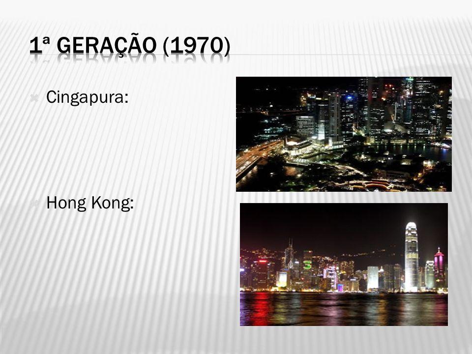 1ª geração (1970) Cingapura: Hong Kong: