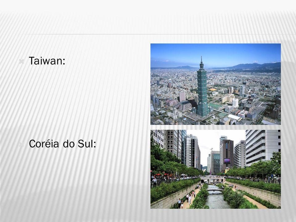 Taiwan: Coréia do Sul: