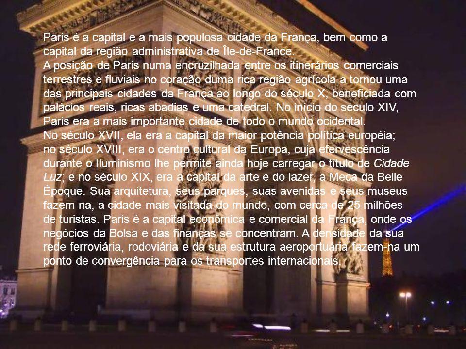 Paris é a capital e a mais populosa cidade da França, bem como a capital da região administrativa de Île-de-France.