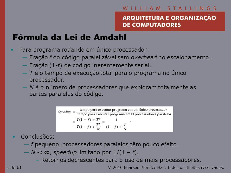 Fórmula da Lei de Amdahl