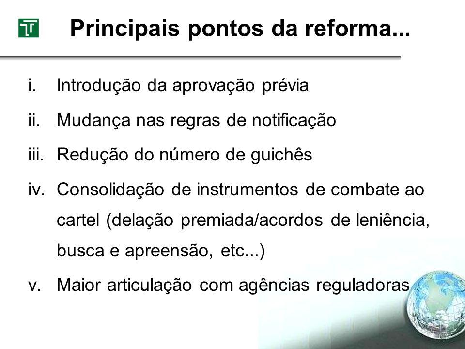 Principais pontos da reforma...