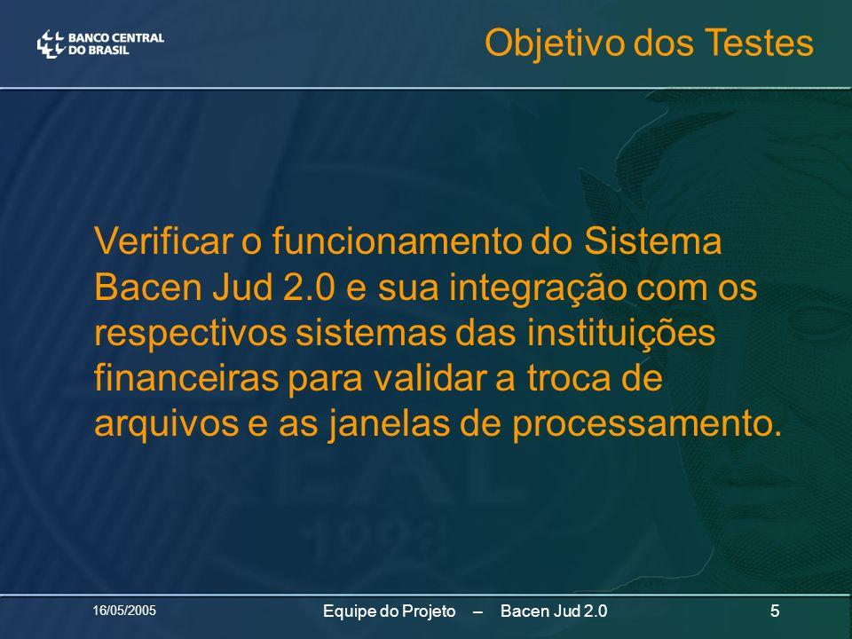 Equipe do Projeto – Bacen Jud 2.0