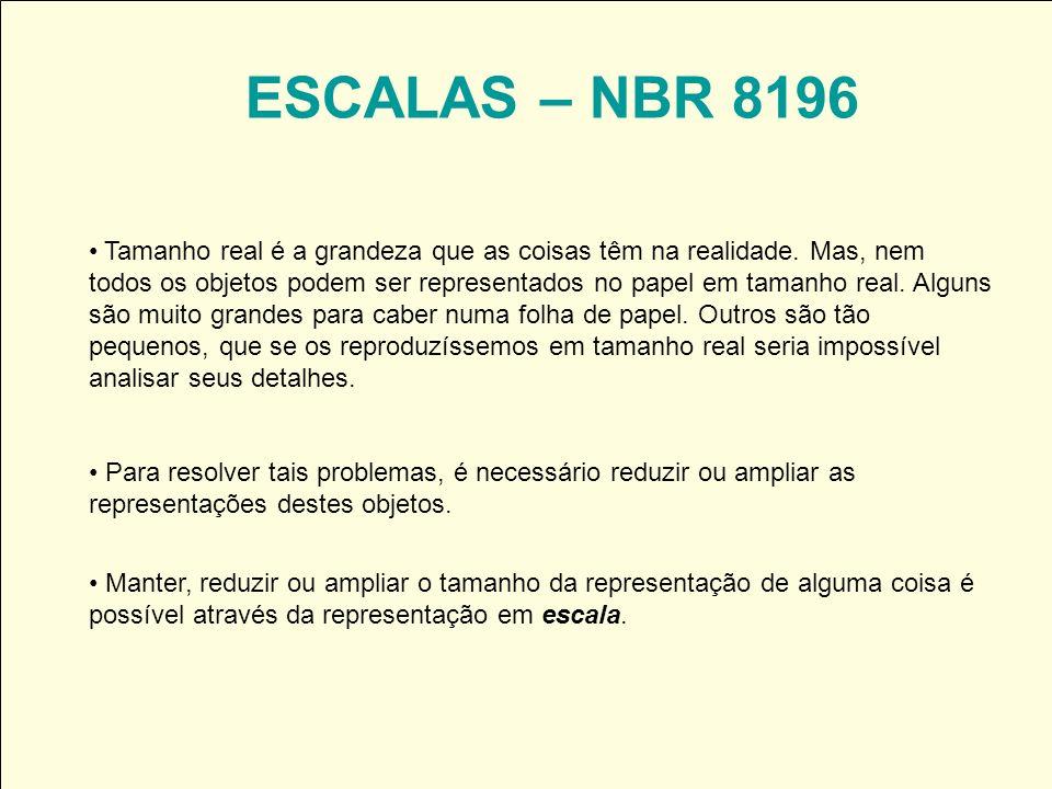 ESCALAS – NBR 8196