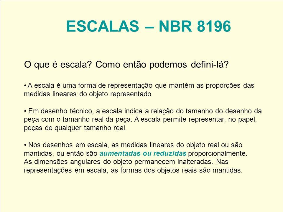 ESCALAS – NBR 8196 O que é escala Como então podemos defini-lá