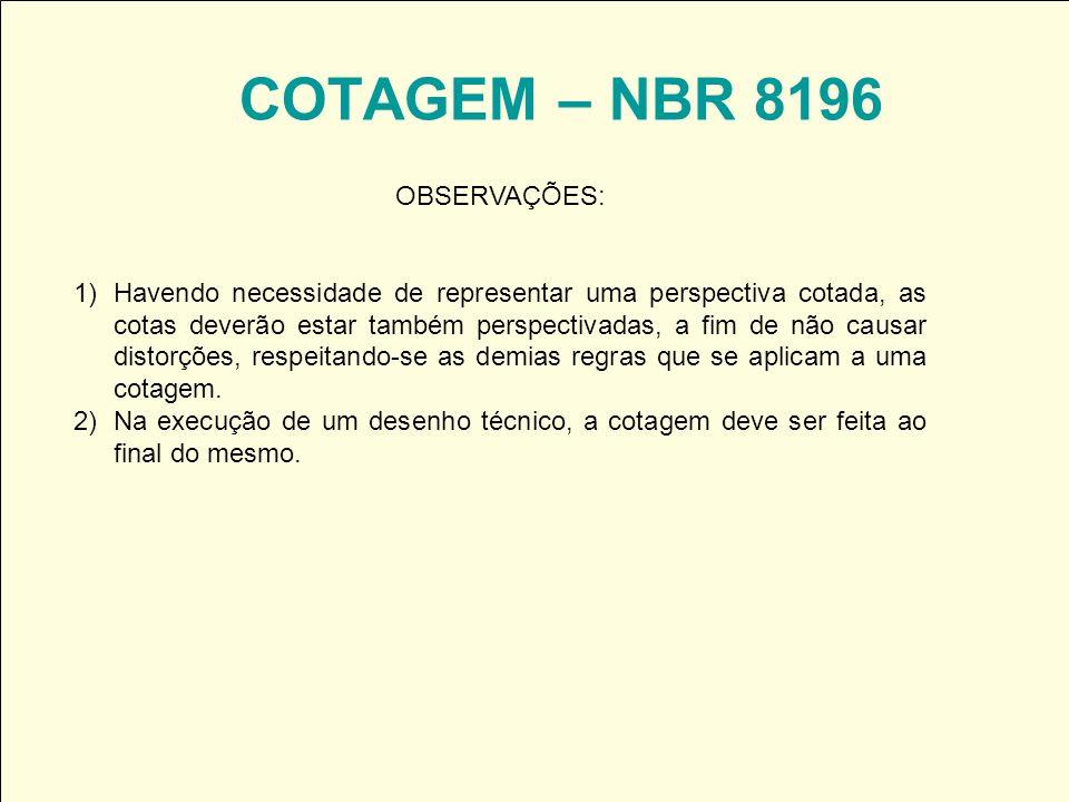COTAGEM – NBR 8196 OBSERVAÇÕES: