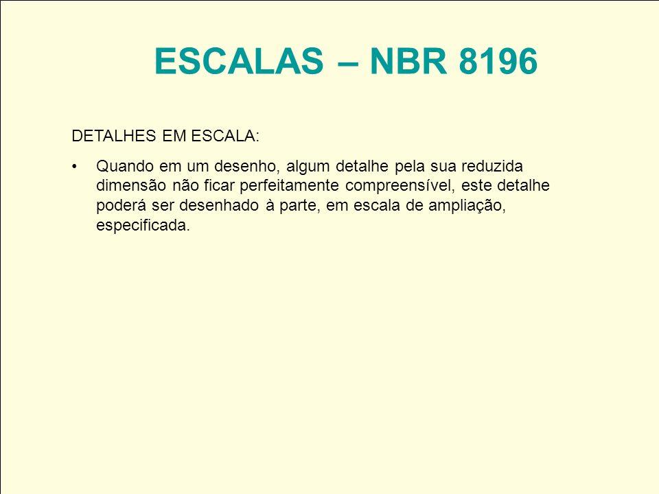 ESCALAS – NBR 8196 DETALHES EM ESCALA: