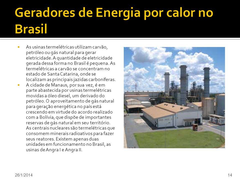 Geradores de Energia por calor no Brasil