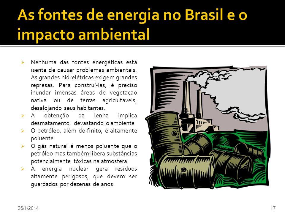 As fontes de energia no Brasil e o impacto ambiental