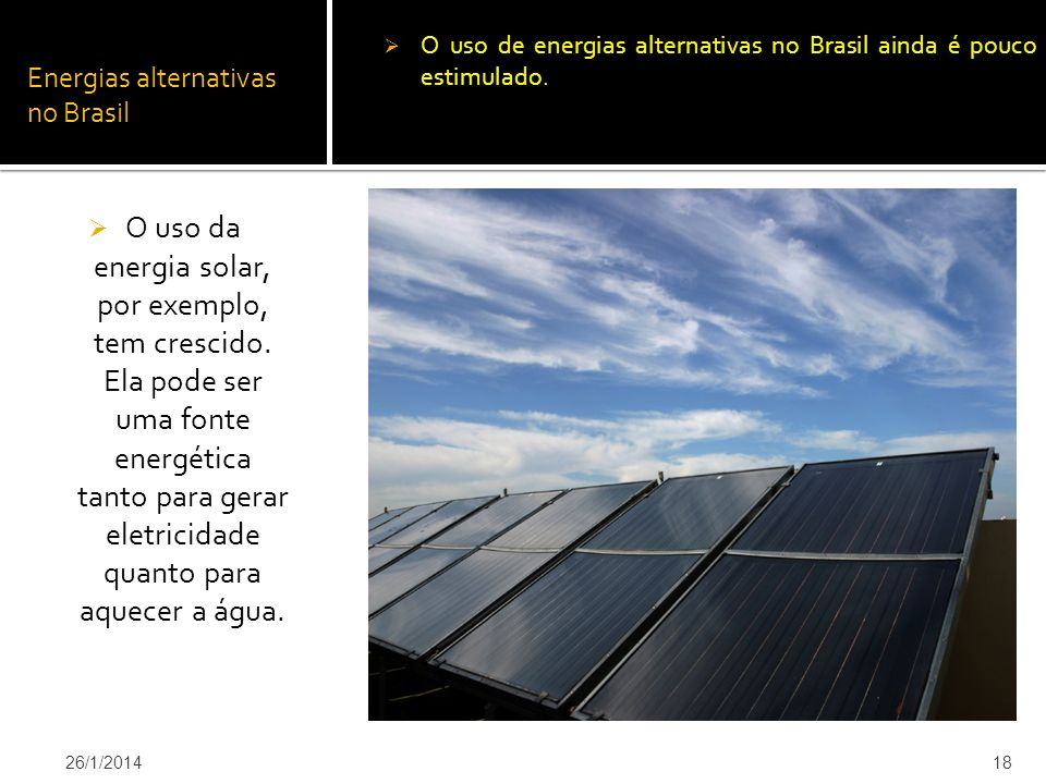 Energias alternativas no Brasil