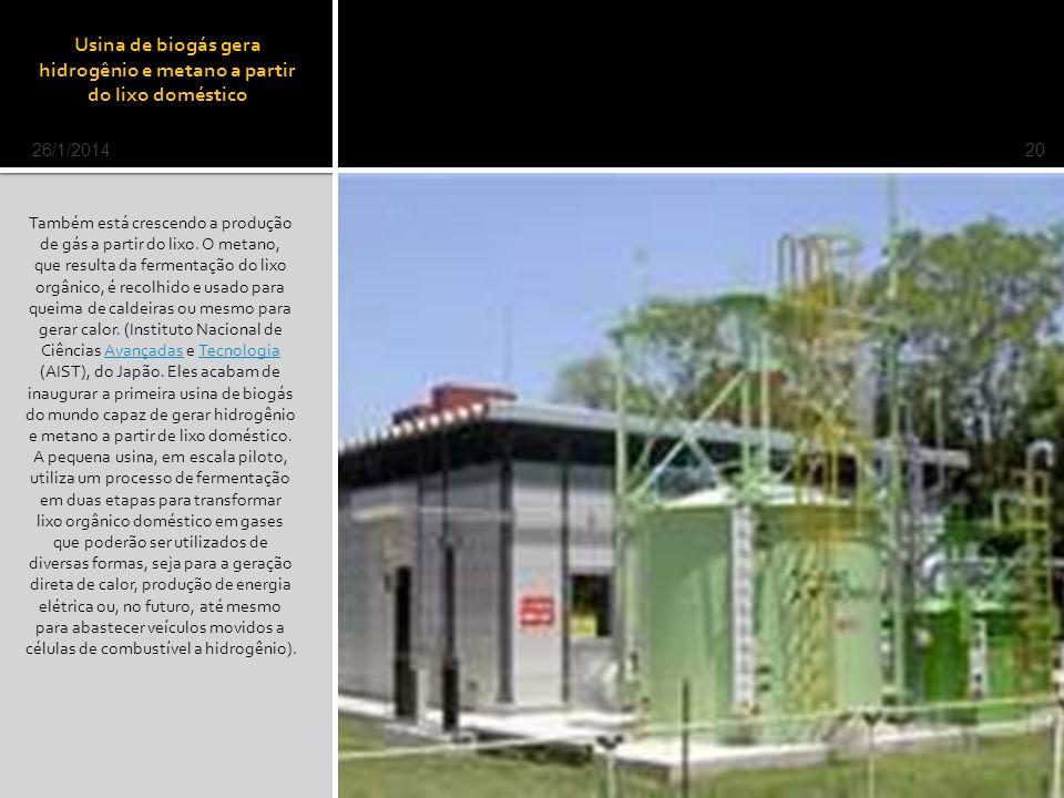 Usina de biogás gera hidrogênio e metano a partir do lixo doméstico