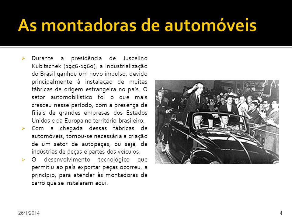 As montadoras de automóveis