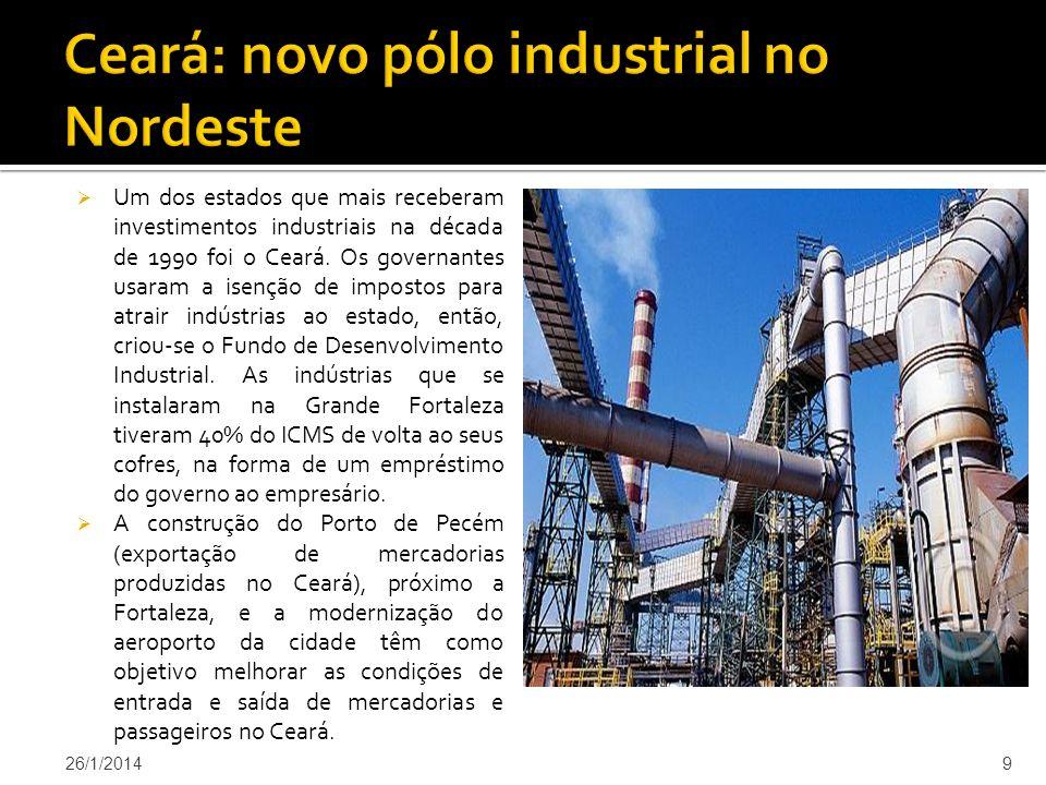 Ceará: novo pólo industrial no Nordeste