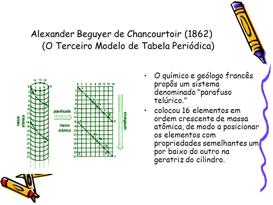 Alexander Beguyer de Chancourtoir (1862) (O Terceiro Modelo de Tabela Periódica)