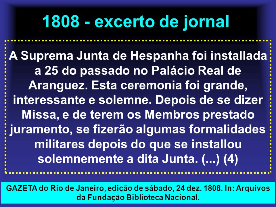 1808 - excerto de jornal
