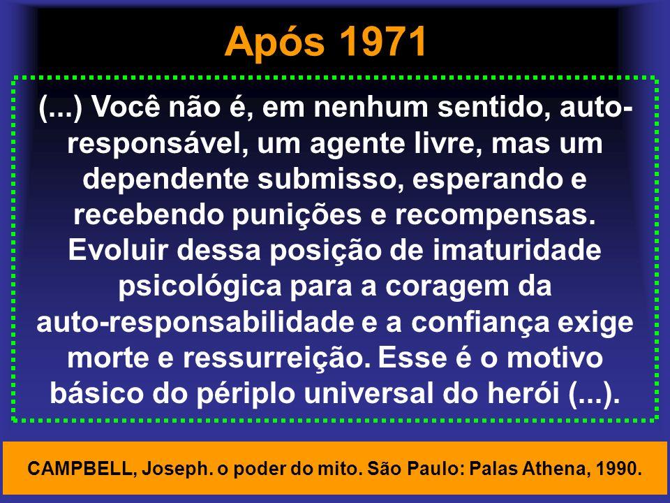 CAMPBELL, Joseph. o poder do mito. São Paulo: Palas Athena, 1990.