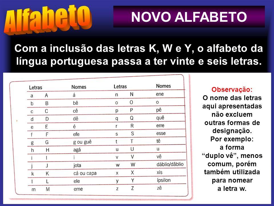 Alfabeto NOVO ALFABETO