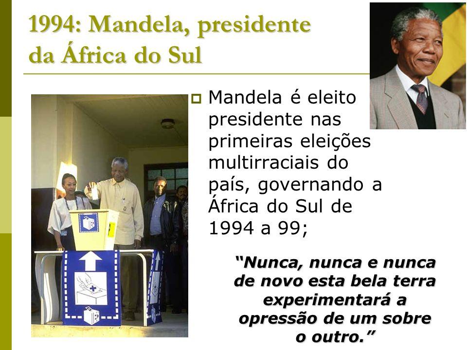 1994: Mandela, presidente da África do Sul