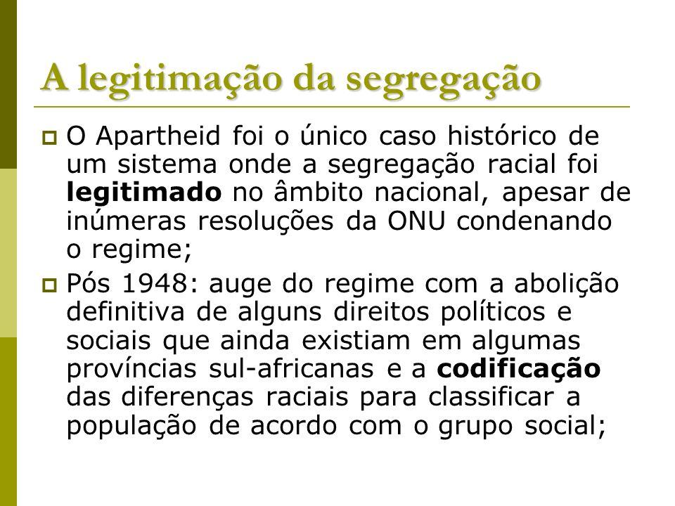 A legitimação da segregação