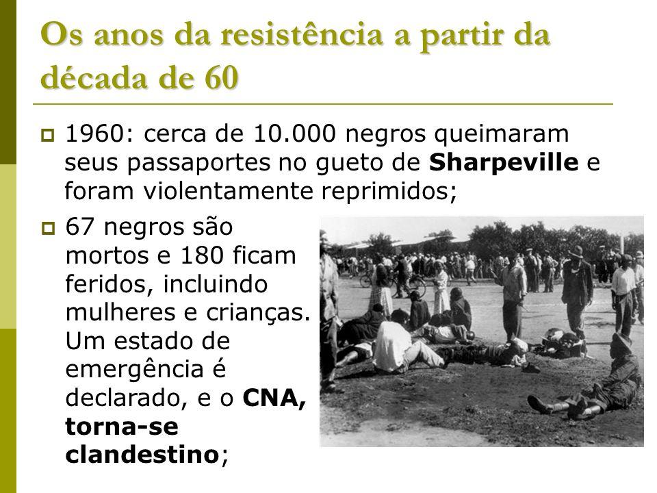Os anos da resistência a partir da década de 60