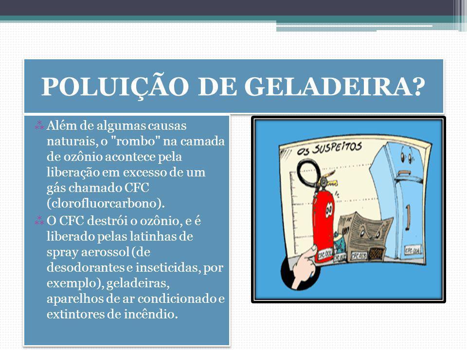 POLUIÇÃO DE GELADEIRA