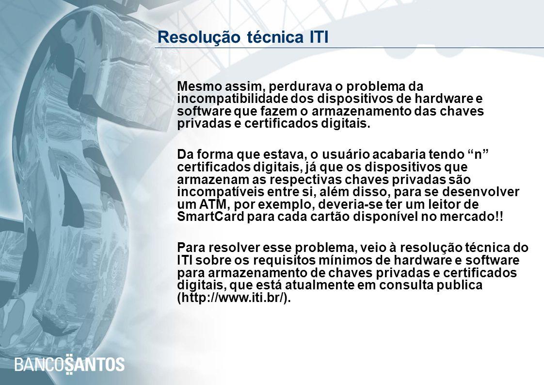Resolução técnica ITI