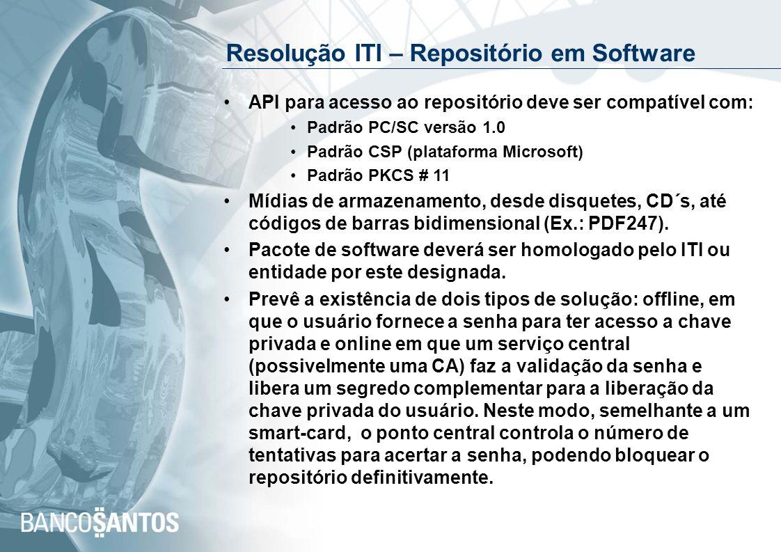 Resolução ITI – Repositório em Software