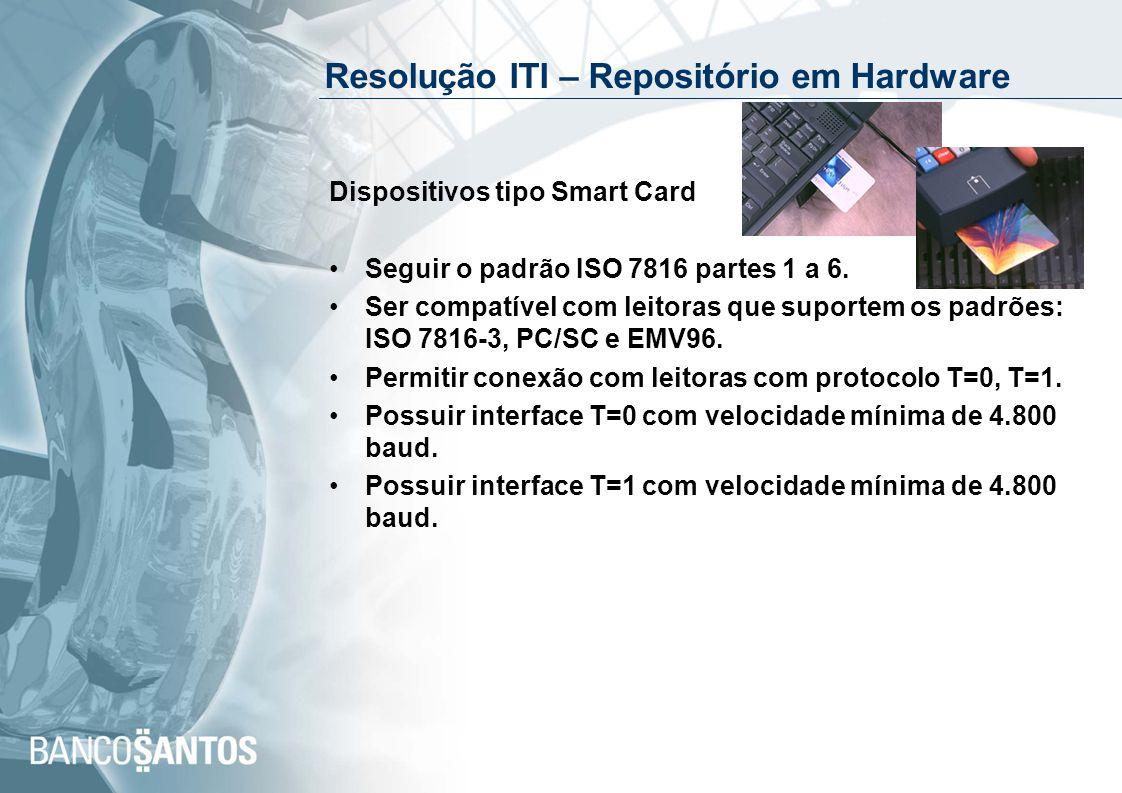 Resolução ITI – Repositório em Hardware