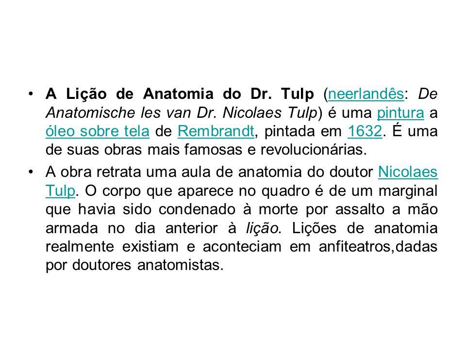 A Lição de Anatomia do Dr. Tulp (neerlandês: De Anatomische les van Dr