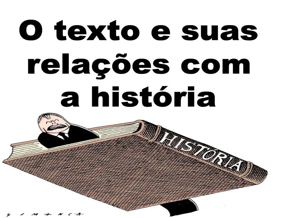 O texto e suas relações com a história