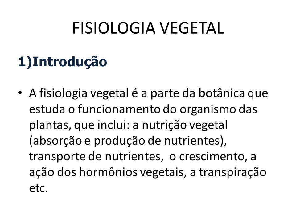 FISIOLOGIA VEGETAL Introdução