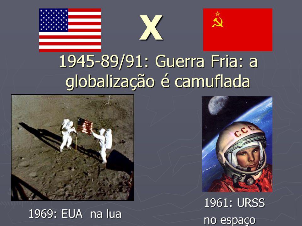 1945-89/91: Guerra Fria: a globalização é camuflada
