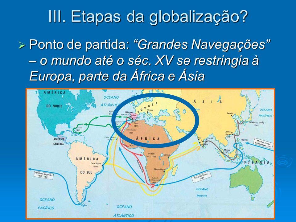 III. Etapas da globalização