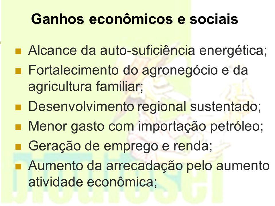 Ganhos econômicos e sociais
