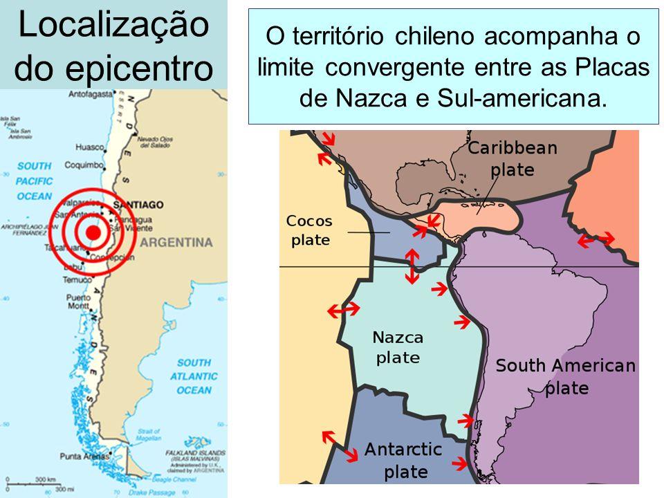 Localização do epicentro