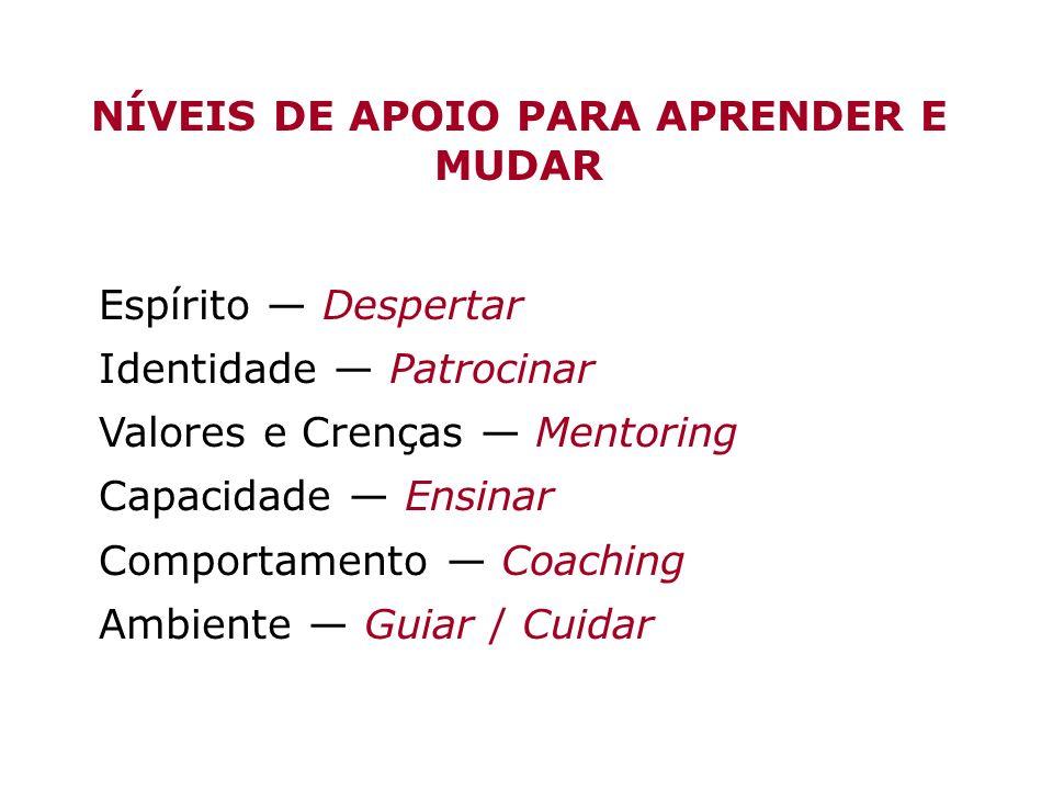 NÍVEIS DE APOIO PARA APRENDER E MUDAR