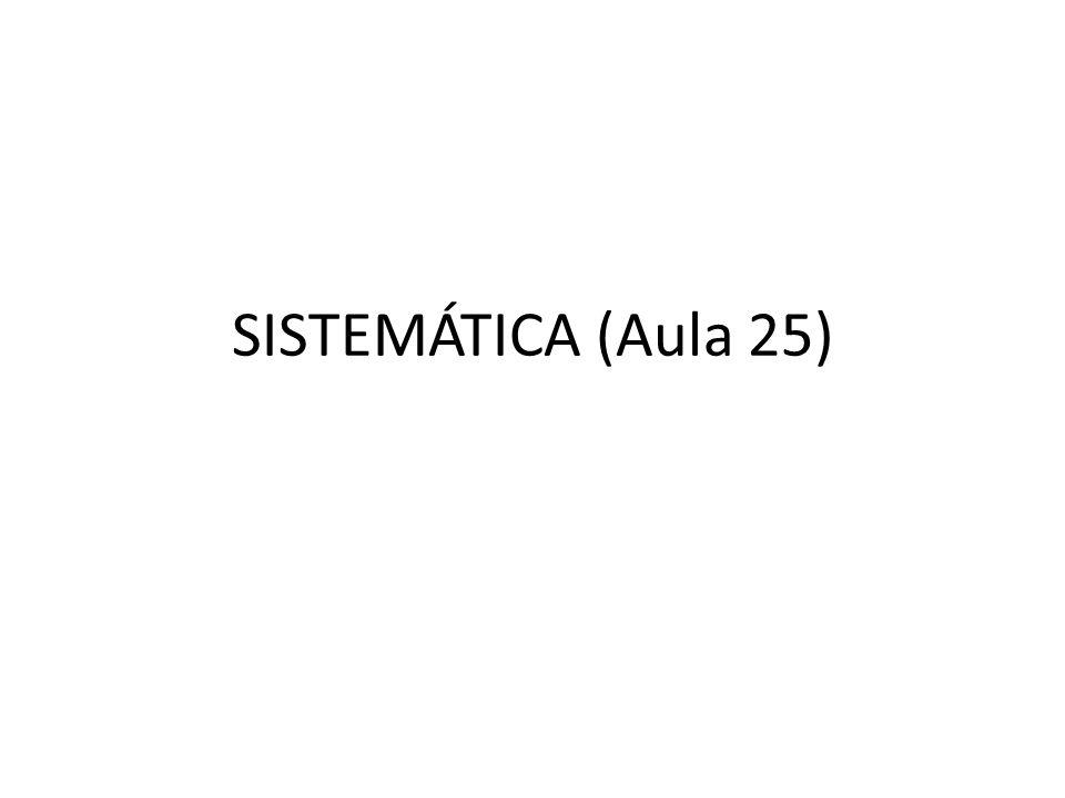 SISTEMÁTICA (Aula 25)