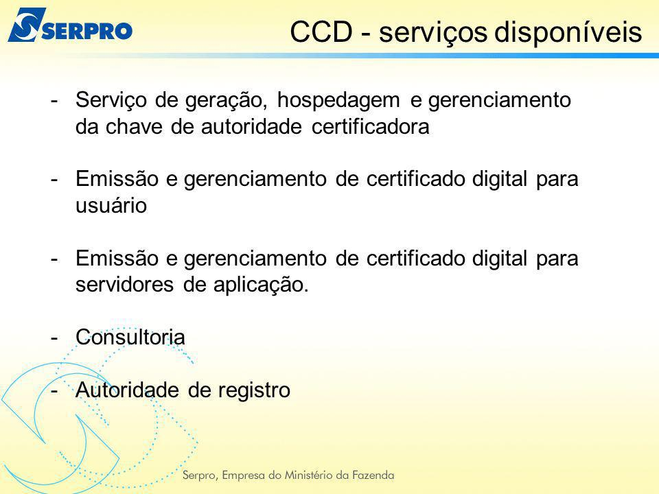 CCD - serviços disponíveis