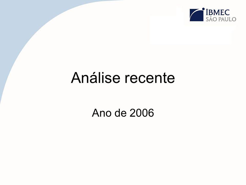 Análise recente Ano de 2006