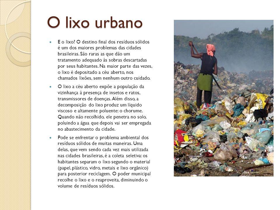 O lixo urbano