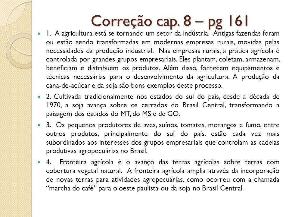 Correção cap. 8 – pg 161