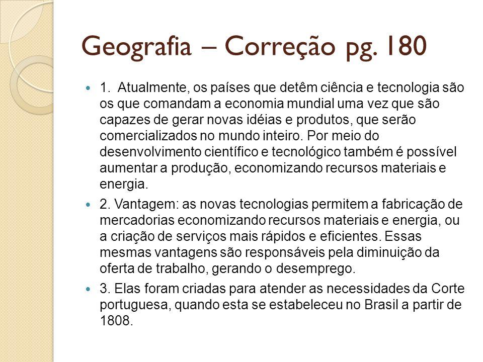 Geografia – Correção pg. 180