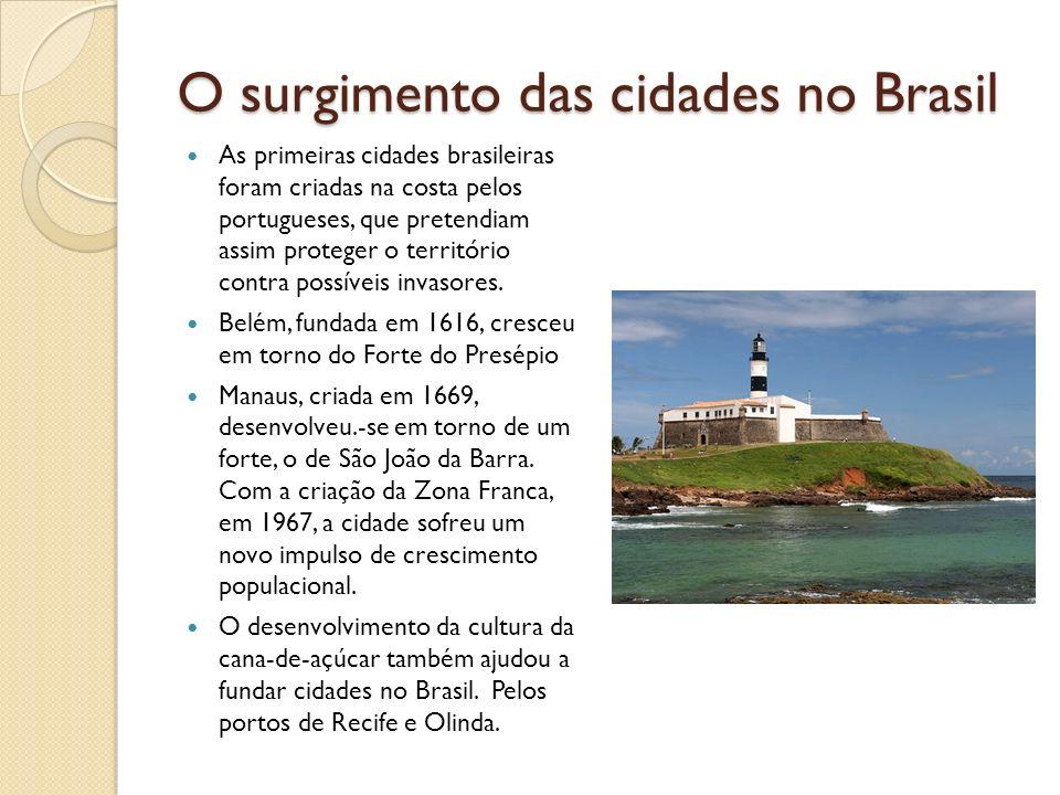O surgimento das cidades no Brasil